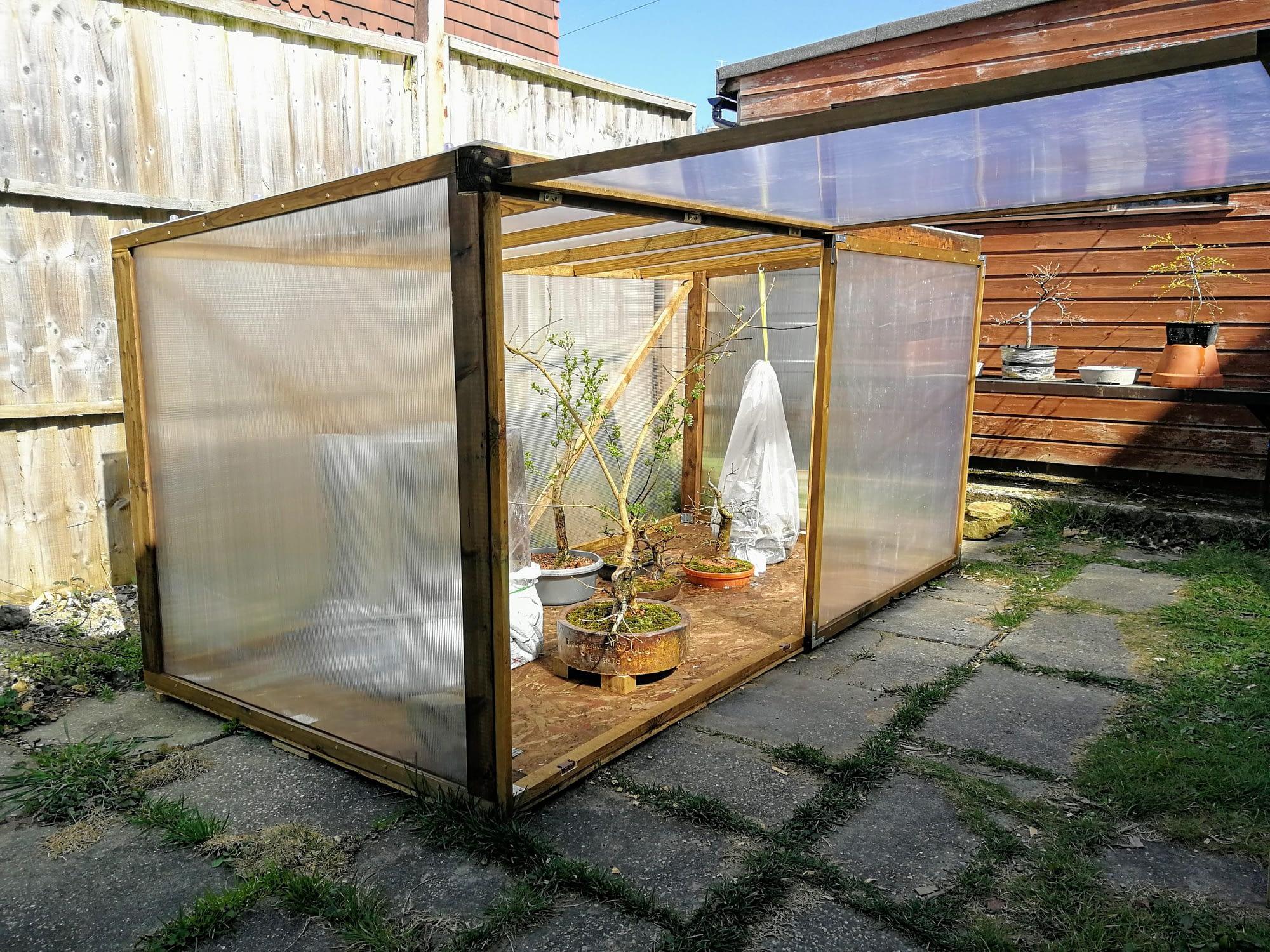 I built a mini greenhouse